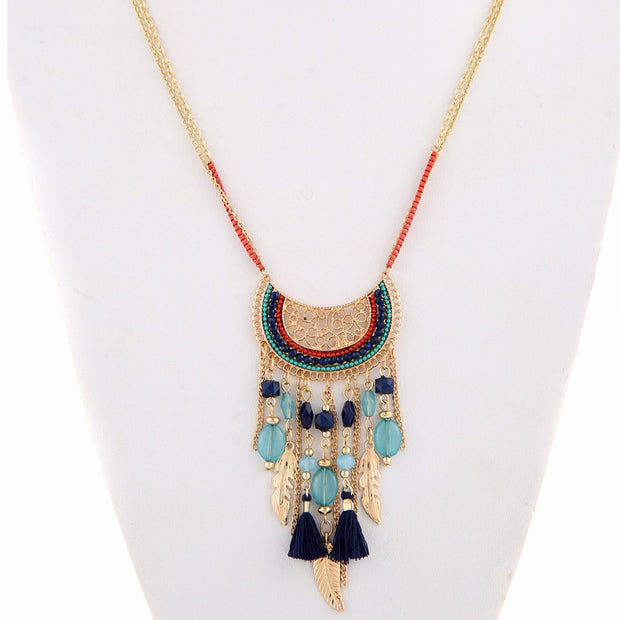Beachy Tassel Necklace - Girlsintrendy, Girls In Trendy