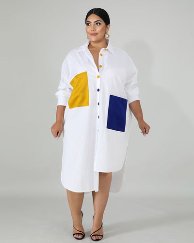 DENISE SHIRT DRESS - Girlsintrendy, Girls In Trendy