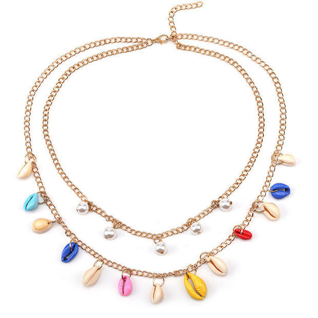 Boho Rainbow Shell Necklace - Girlsintrendy, Girls In Trendy