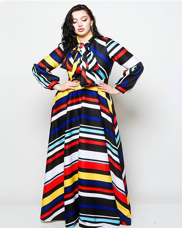 Colorful Lifestyle Maxi Dress - Girlsintrendy, Girls In Trendy