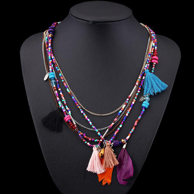 Colorful Lifestyle Necklace - Girlsintrendy, Girls In Trendy