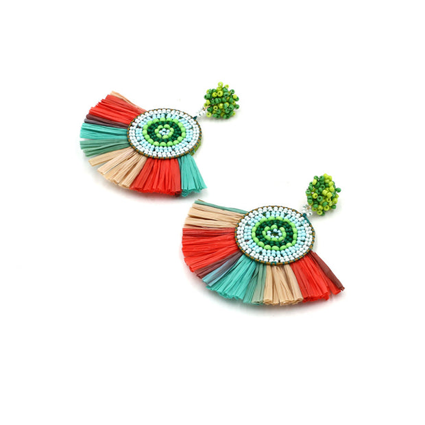 Colorful Tassel Earrings - Girlsintrendy, Girls In Trendy