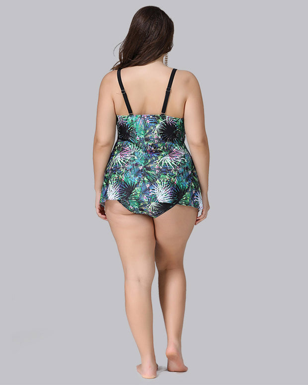Cute Printed Plus Size Swimsuit - Girlsintrendy, Girls In Trendy