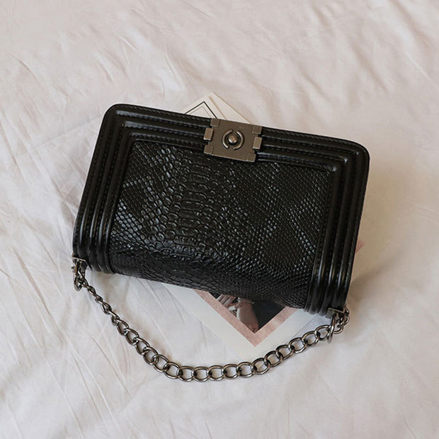 Embossed Crocodile Chain Bag - Girlsintrendy, Girls In Trendy