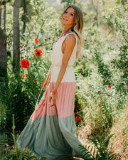 Enchanted Princess Color Block Tank Maxi - Girlsintrendy, Girls In Trendy