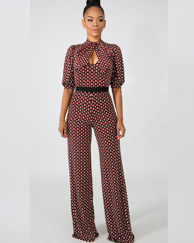 Chic Textured Classy Jumpsuit - Girlsintrendy, Girls In Trendy