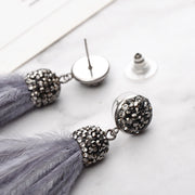 Fluffy Long Dangle Tassel Earrings - Girlsintrendy, Girls In Trendy