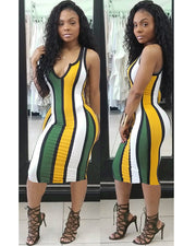 Honey Stripe Bodycon Dress - Girlsintrendy, Girls In Trendy