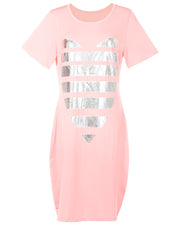 She is Lovely T-Shirt Mini Dress - Girlsintrendy, Girls In Trendy
