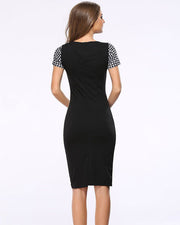 Lattice Print Patchwork Bodycon Dress - Girlsintrendy, Girls In Trendy