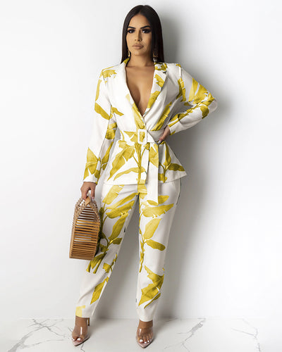 Leaves Soul Suit Set - Girlsintrendy, Girls In Trendy