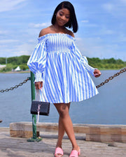Lightly Blue Midi Dress - Girlsintrendy, Girls In Trendy