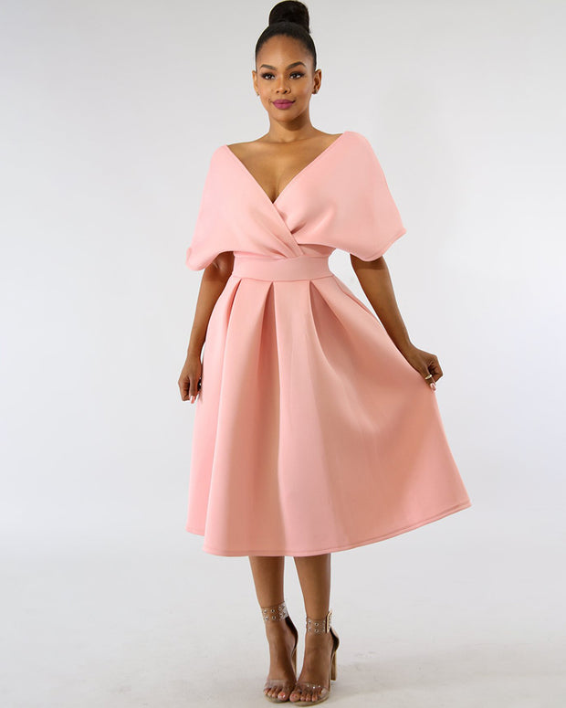 On Your Mind Bowknot Midi - Girlsintrendy, Girls In Trendy