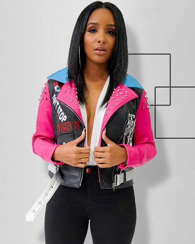 Look Around Pink Moto Jacket - Girlsintrendy, Girls In Trendy