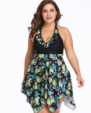 Plus Size Printed Beach Wear - Girlsintrendy, Girls In Trendy