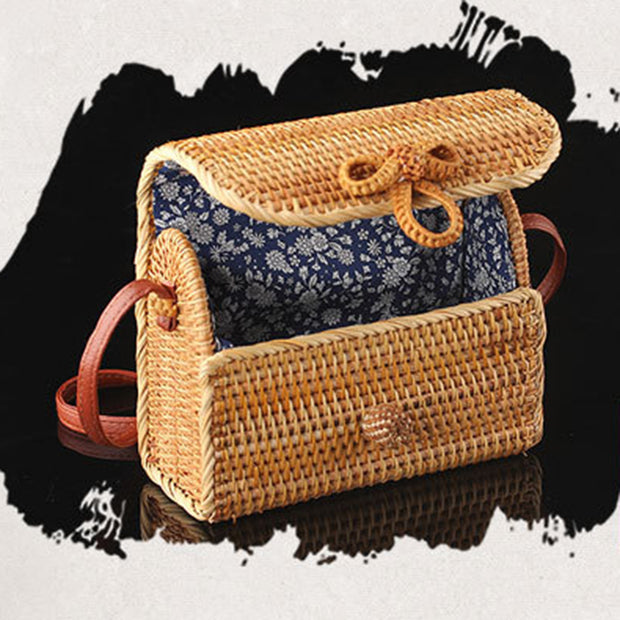 Rattan Natural Bow Bags - Girlsintrendy, Girls In Trendy