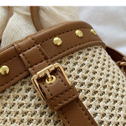 Rattan Natural Bucket Bag - Girlsintrendy, Girls In Trendy