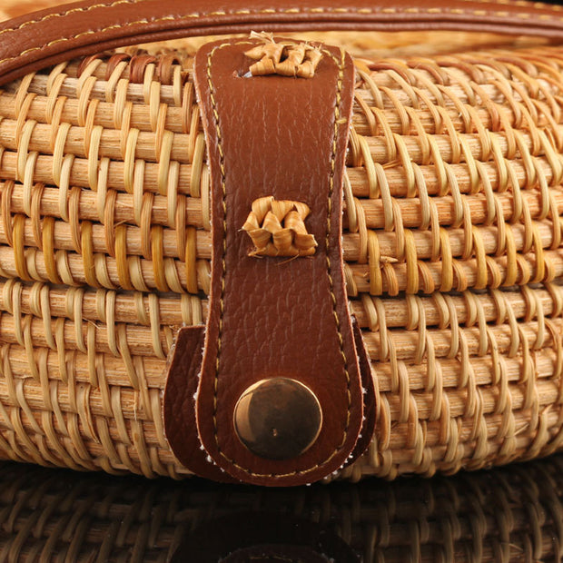 Rattan Natural Chic Handbags - Girlsintrendy, Girls In Trendy