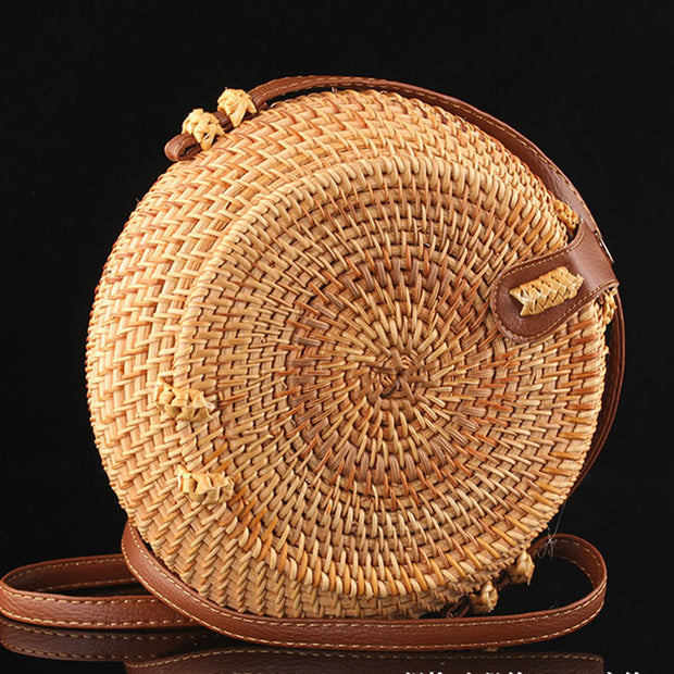 Rattan Natural Circle Bags - Girlsintrendy, Girls In Trendy