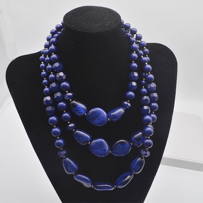 Sapphire Blue Acrylic Necklace - Girlsintrendy, Girls In Trendy