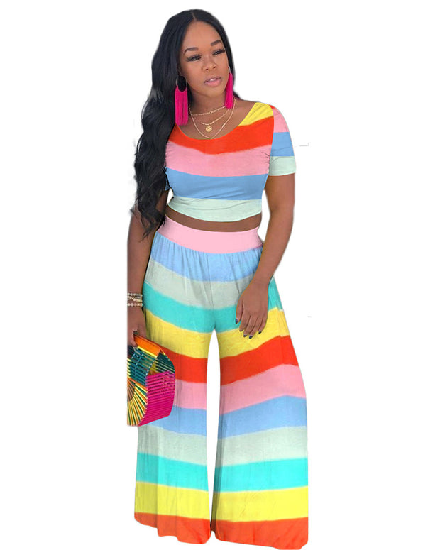 Seasons In The Rainbow Pants Set - Girlsintrendy, Girls In Trendy