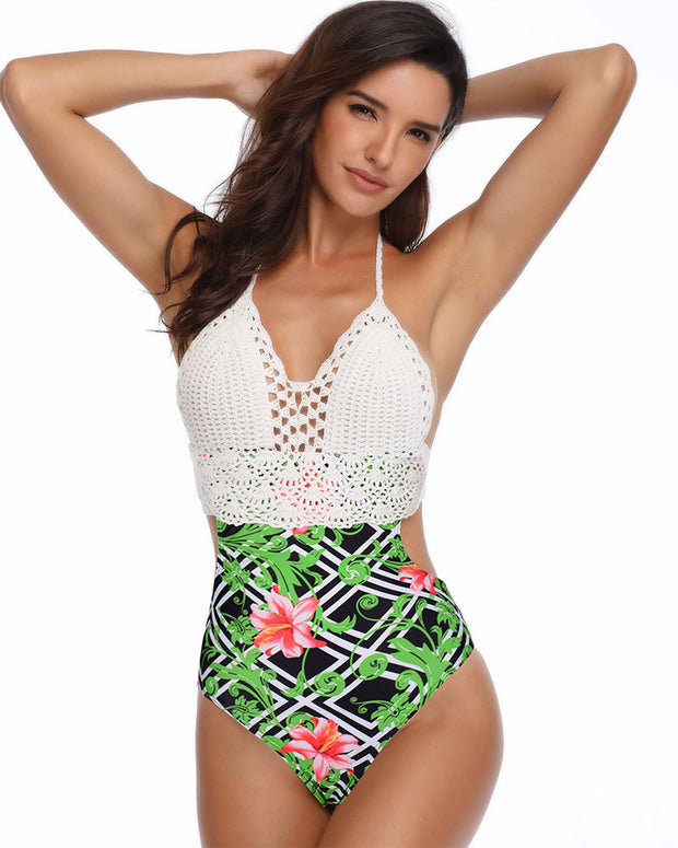 Sexy Lace One Piece Swimsuit - Girlsintrendy, Girls In Trendy