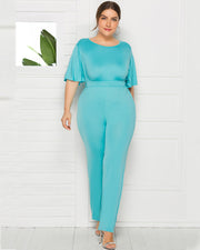 Sexy Waist Design Wide Legs Jumpsuit - Girlsintrendy, Girls In Trendy