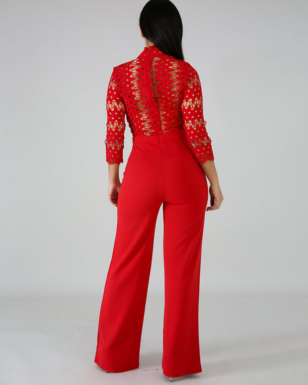 The Show Lace Jumpsuit - Girlsintrendy, Girls In Trendy