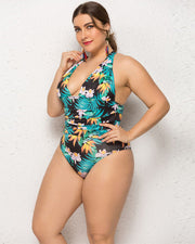 Sexy Ladies Plus Print Swimsuit - Girlsintrendy, Girls In Trendy