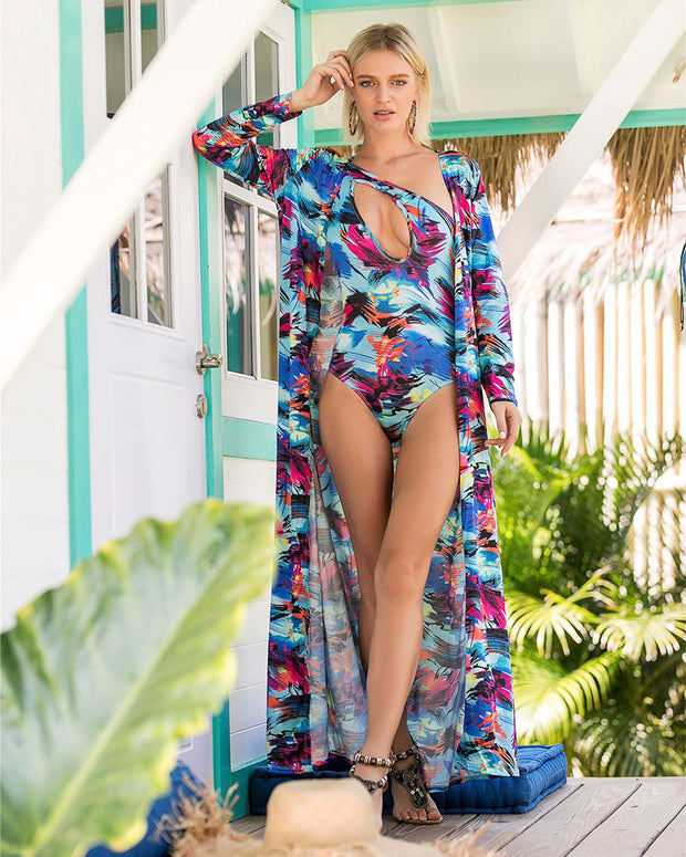 Sexy Backless Women Swimwear With Cover Up - Girlsintrendy, Girls In Trendy