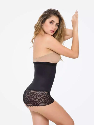 Racy Lacy High-Waisted Hip Hugger Boyshort - Girlsintrendy, Girls In Trendy