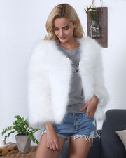 MICHIGAN CROP FAUX FUR JACKET - Girlsintrendy, Girls In Trendy