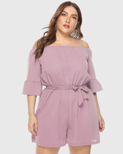 Soft Off Shoulder Jumpsuits - Girlsintrendy, Girls In Trendy