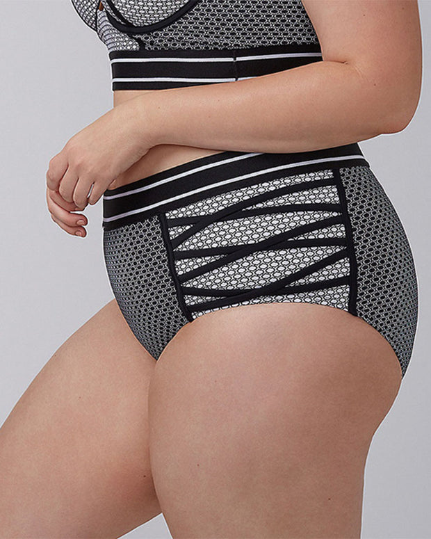 Plus Size Vintage Strappy High Waisted Bikini - Girlsintrendy, Girls In Trendy