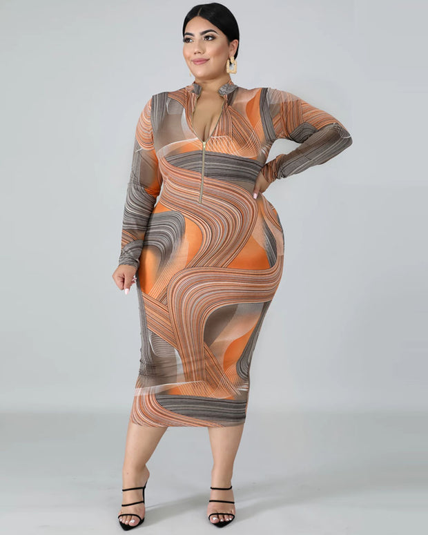Follow Your Heart Plus Size Bodycon Dress - Girlsintrendy, Girls In Trendy