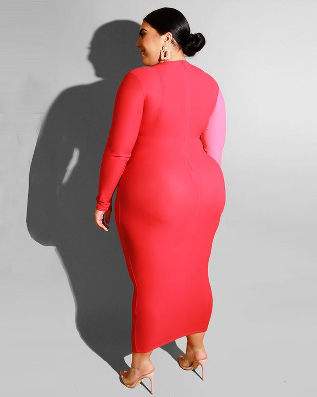 You Won't Forget Me Plus Size Midi Dress - Girlsintrendy, Girls In Trendy
