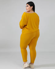 Don't Lose Touch Plus Size Pants Set - Girlsintrendy, Girls In Trendy