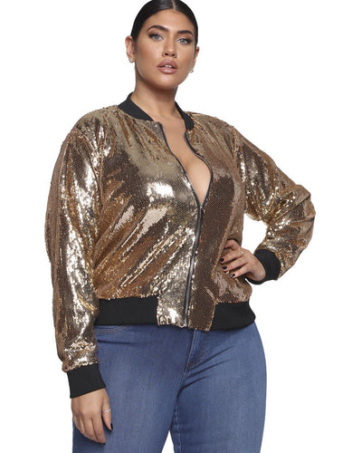 Golden Wind Plus Size Jacket - Girlsintrendy, Girls In Trendy