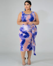 CURVY TIED IN KNOT Plus Size SKIRT SET - 6 Colors - Girlsintrendy, Girls In Trendy