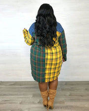 PLAY BOTH SIDES PLAID SHIRT DRESS | FOREST MIX - Girlsintrendy, Girls In Trendy