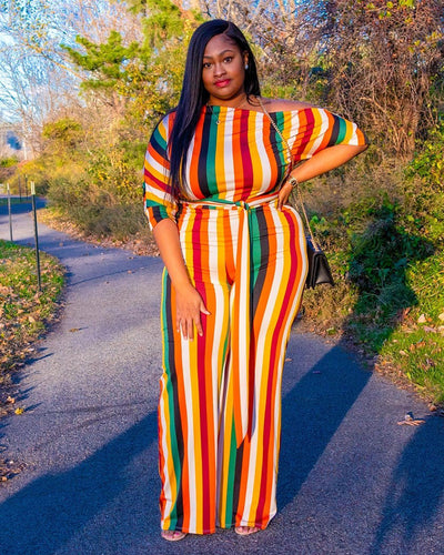 Soft To The Touch Plus Size Jumpsuit - Girlsintrendy, Girls In Trendy
