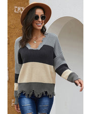 Colorful Life Pullover Knit Sweater - Girlsintrendy, Girls In Trendy