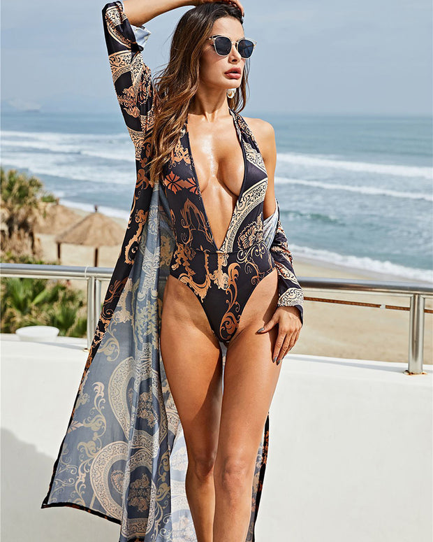Sexy Backless Women Swimwear With Cover Ups - Girlsintrendy, Girls In Trendy