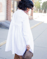 White Shirt Dress - Girlsintrendy, Girls In Trendy