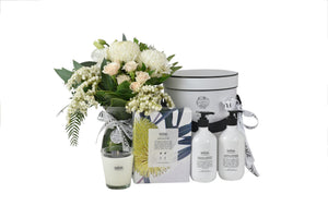 Pamper + Body + Home gifts + Hampers