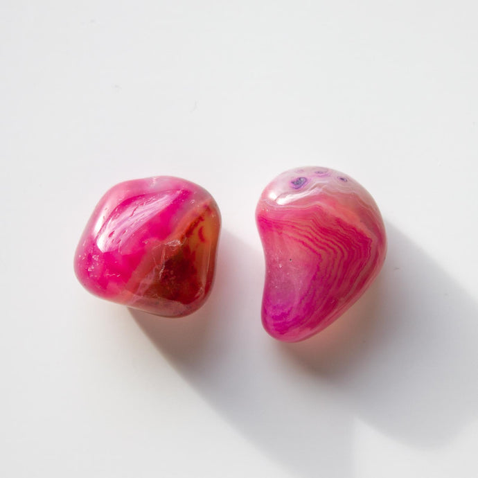 Ethical Pink Agate Healing Crystal for Peace, Grounding, and Love