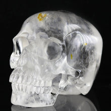 Load image into Gallery viewer, 1.2kg Clear Quartz & Rare Citrine Inclusion Healing Crystal Skull