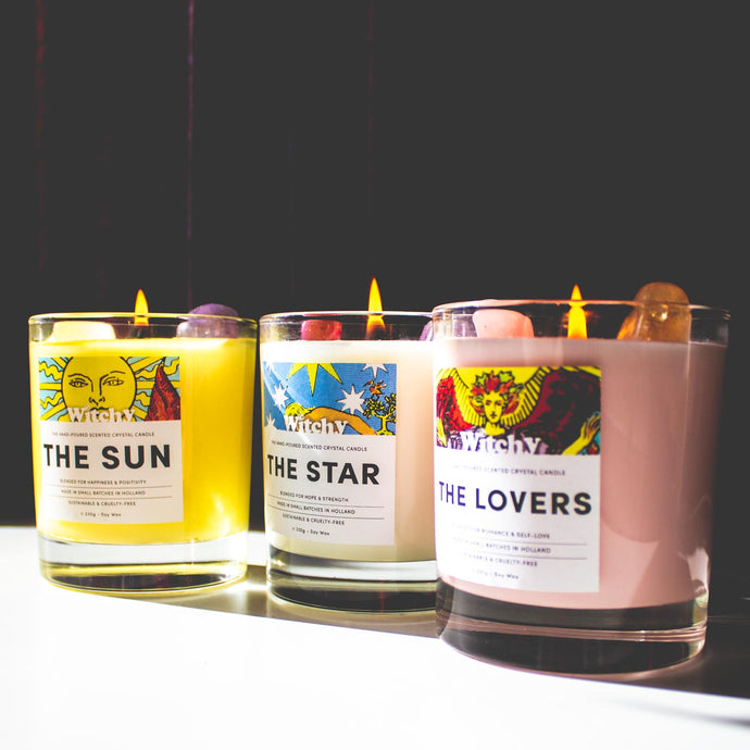 The Full Crystal Tarot Candle Collection