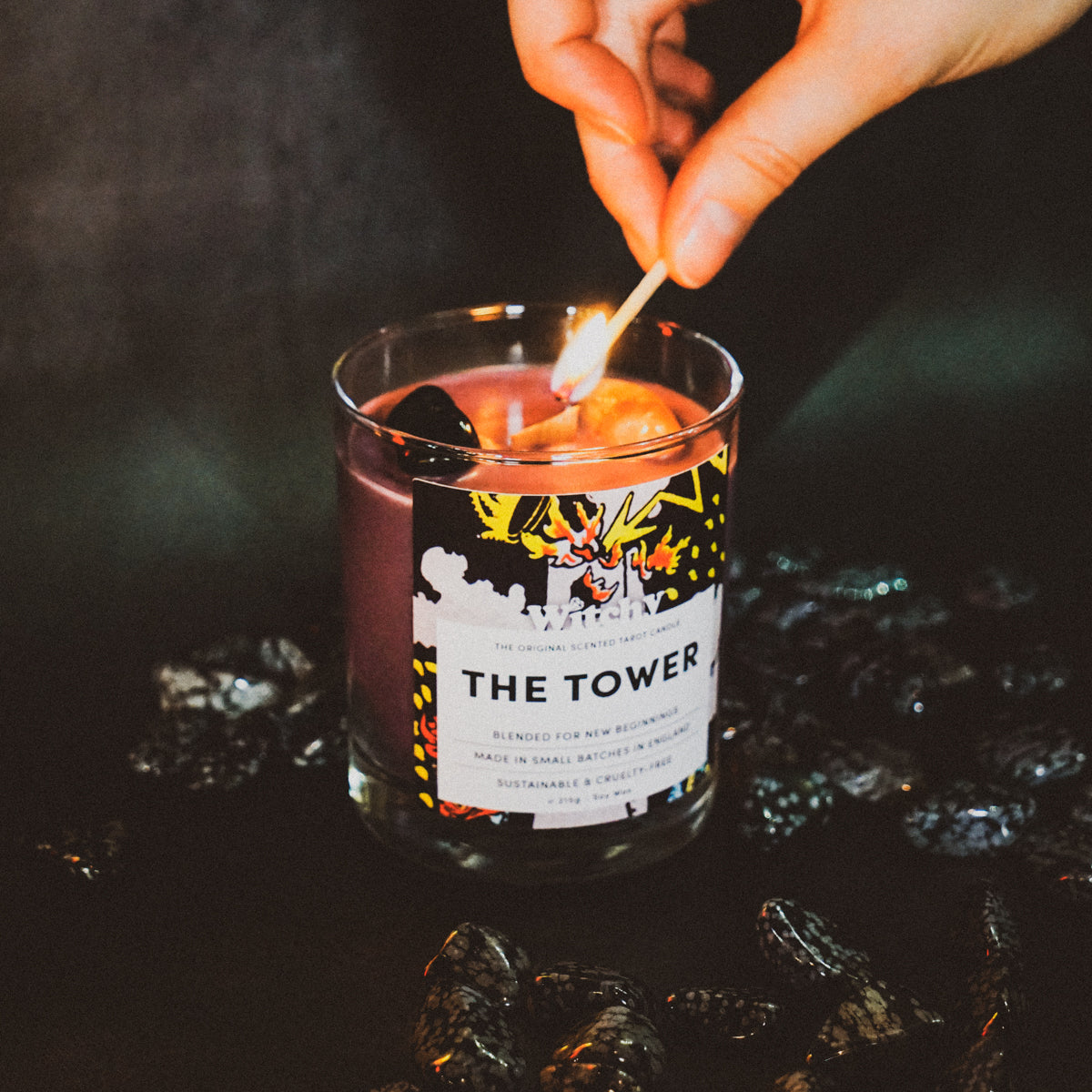 The Tower Tarot Candle for Balance & Clarity