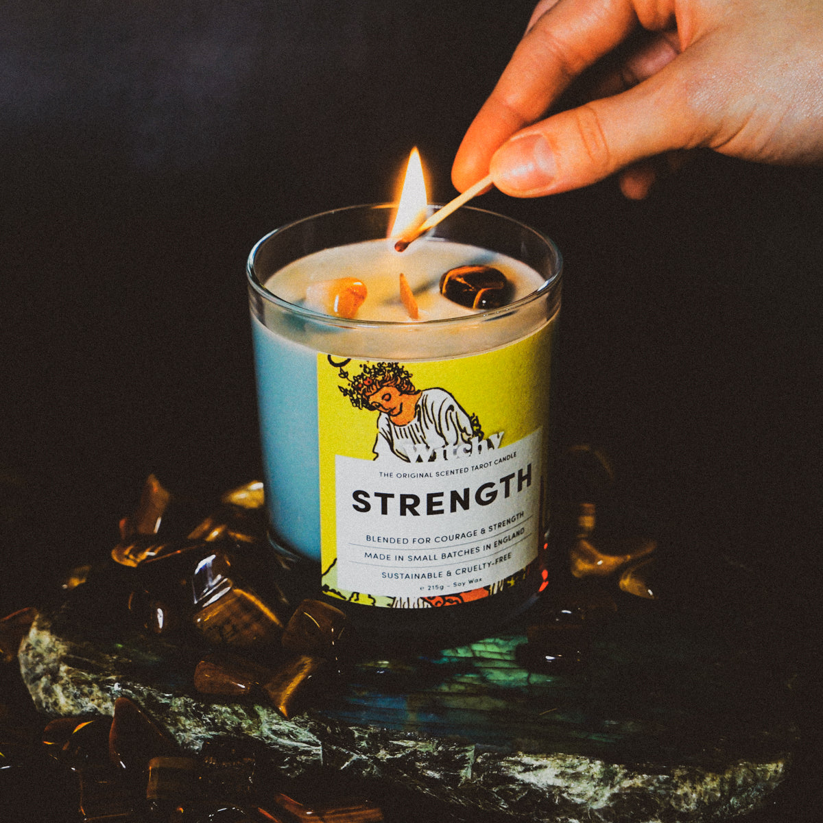 Strength Tarot Candle for Courage & Strength